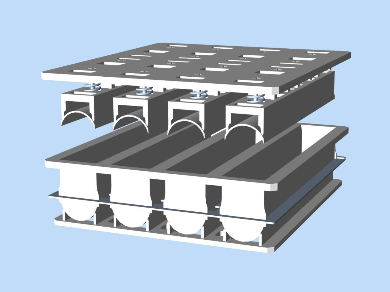 Afbeelding 1 van Cheesemould (4x) ø112 x 750 mm