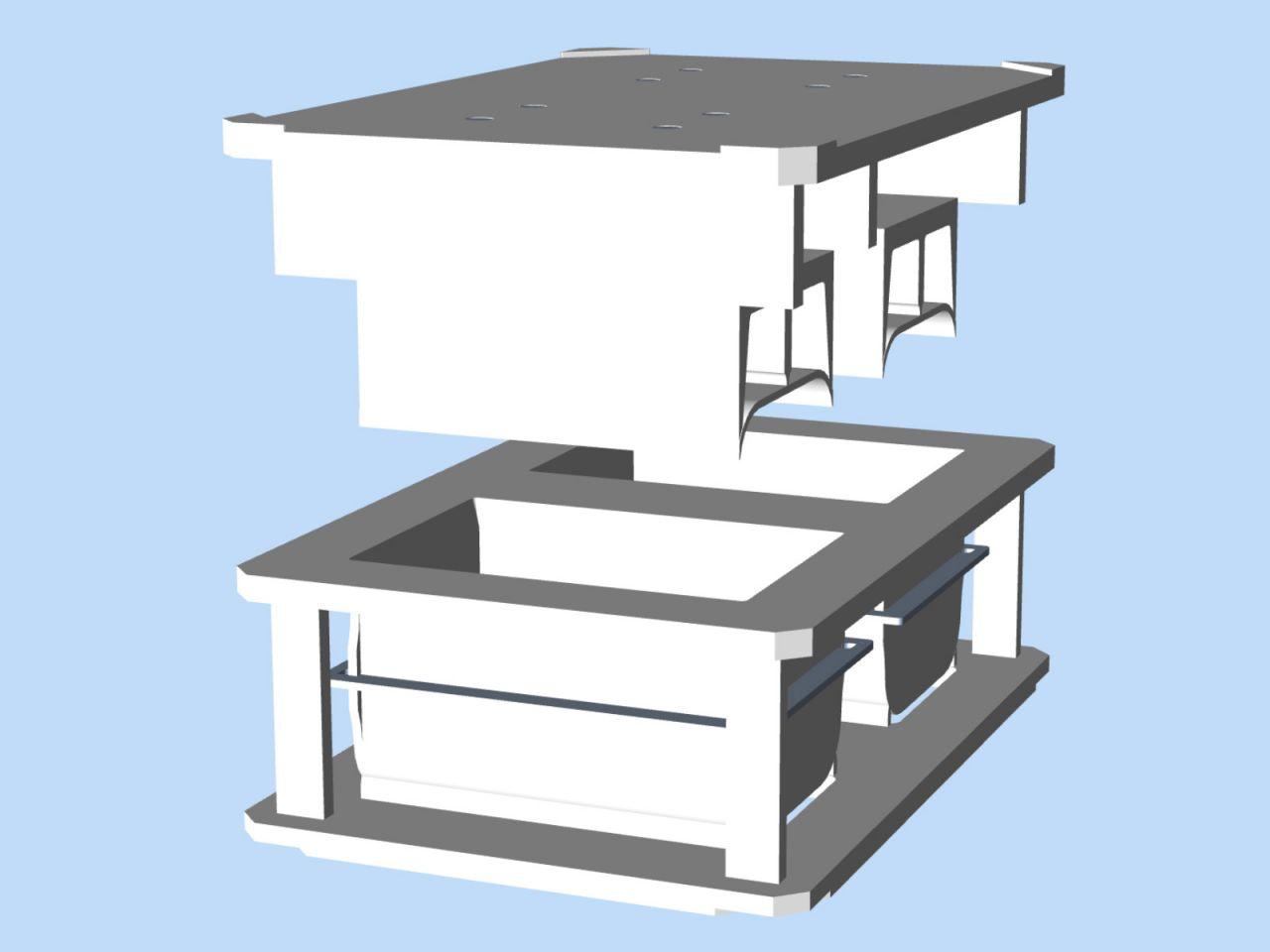 """Afbeelding 1 van Cheesemould """"double bar"""" 300 x 200 mm"""