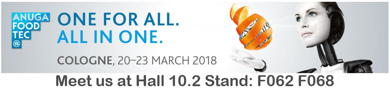Laude will be present at Anuga Food Tec 2018!